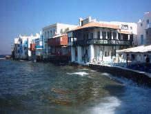 Little Venice in Mykonos stad