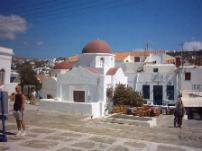 A church in Mykonos town