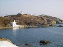 Stavros beach op Tinos in Griekenland