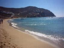 The beach of Elia is one of the nicest on the island