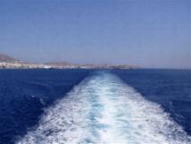 Het spoor van een veerboot