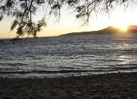 Zonsondergang op Stavros Beach...