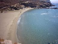 The beach at Isternia Bay