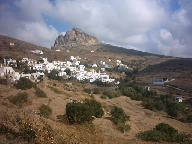 Bergdorp Tinos Griekenland.