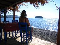 Lesbos, view at Skala Eressos