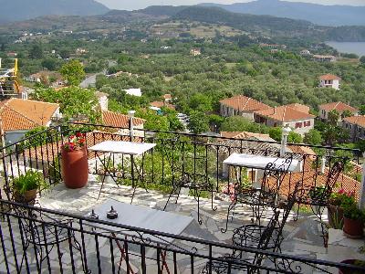 Molyvos Lesbos, zicht vanaf Nassos Guesthouse
