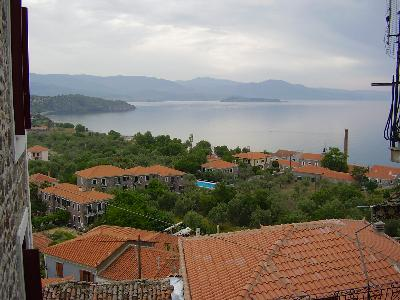 Molyvos Lesbos, view from Nassos Guesthouse