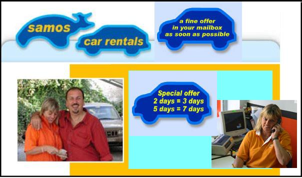 Vivi van Kyklos car rental op Samos