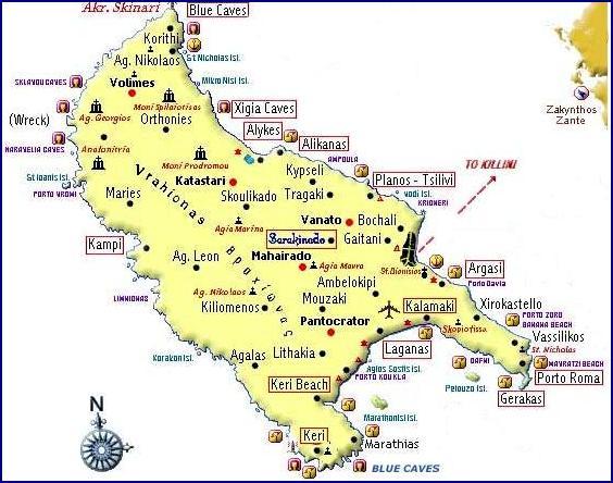 Zakynthos map