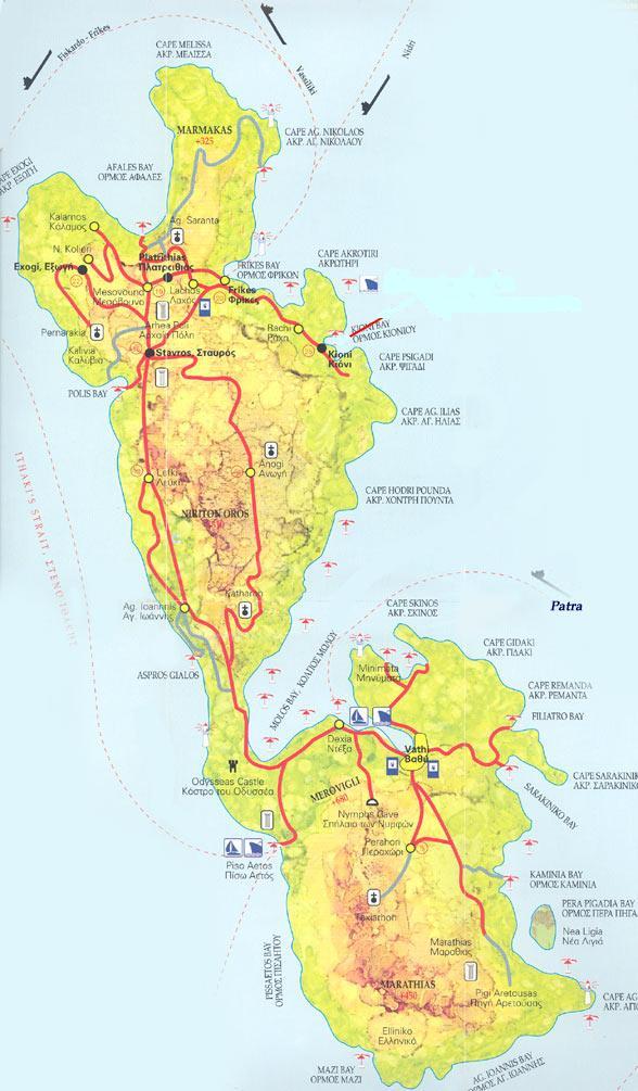Ithaka map, Ithaka plattegrond