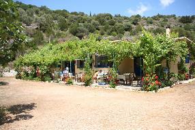 Taverna in Ieurosalim beach, Kefalonia.