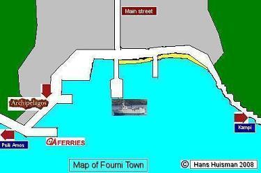 Fourni stad plattegrond