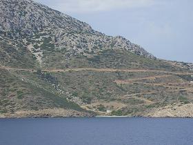 Thymena island near Fourni Town, Fourni stad