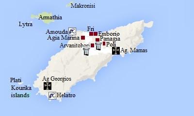 map kasos