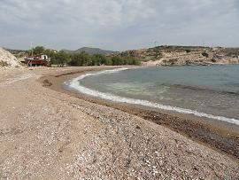 Kimilos, klima Beach