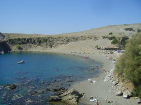 The beautiful beaches of Agios Pavlos in Crete