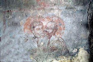 Wandschilderingen in de Agios Antonios kerk.