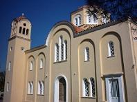 De kerk in Avdou op Kreta.
