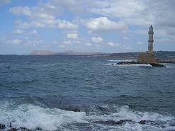 Chania lighthouse, vuurtoren, Kreta, Crete