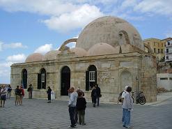 Chania Janitsar Mosque, de Janitsar Moskee, Kreta, Crete