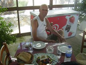 Kotapi Taverna in Rodakino Beach, Crete, Kreta.