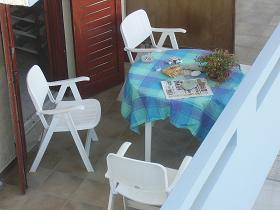 Lygaria Beach, zo maar een balkonnetje ergens, Kreta, Crete