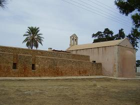 Het Agios Ioannis Eleimon Klooster in Pazinos op Kreta, the Agios Ioannis Eleimon Monastery on Crete