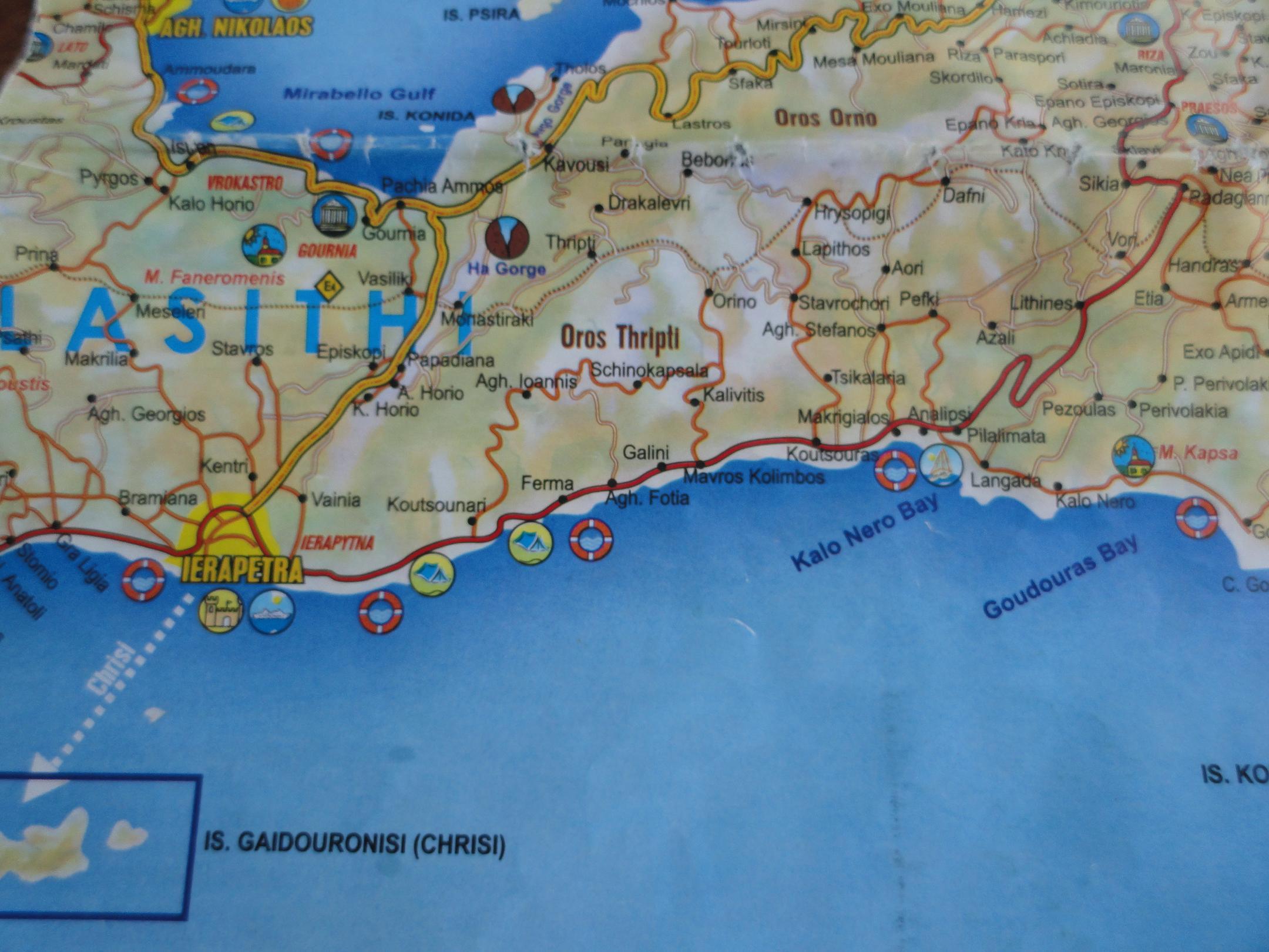 Maps of Crete