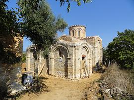 Koufos, the Byzantine church of Zoodohos Pigi, Crete, Kreta