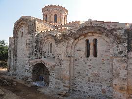 Koufos, de Byzantijnse Zoodohos Pigi kerk, Crete, Kreta