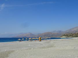 Triopetra beach Crete, Triopetra beach op Kreta