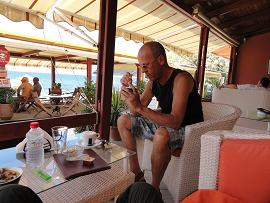 Kiknos cafe Snack, Kalamaki beach on Crete, het strand van Kalamaki op Kreta