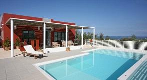 Maleme Beach, Villa Bamboo, Crete.