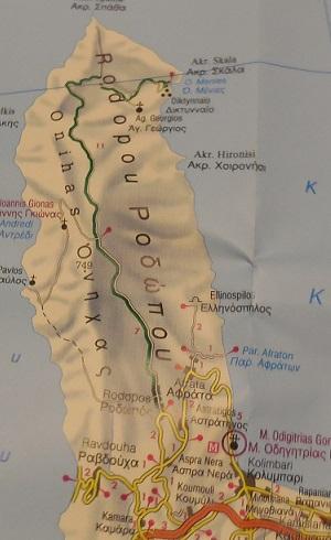 map, plattegrond Rodopos Crete
