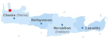 Map of Spilia Crete