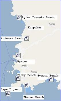The nicest beaches and naturist beaches on the island of Limnos or