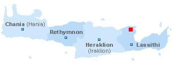 Plattegrond van Kreta