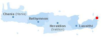 Map of Crete