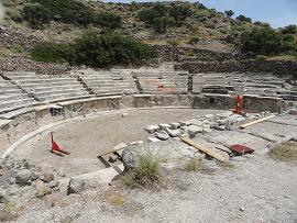 Milos ancient theather