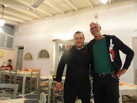 Milos, Gialos Restaurant in Pollonia, cook Achilleus & Hans