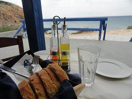 Milos, Restaurant cafe Muses in Provatas Beach