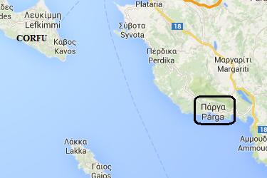 map of the Peloponnese, plattegrond van de Pelopennesos