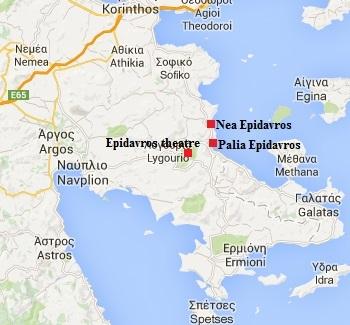 Epidavros or Epidaurus in the Pelonnese in Greece