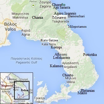 map of Pilion or Pelion
