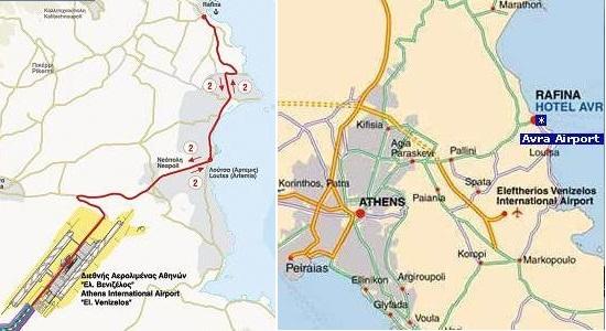 map of Rafina