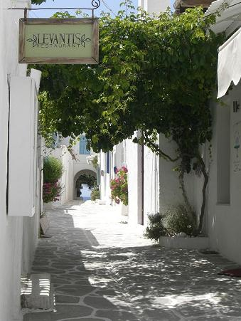 straatje in Mykonos