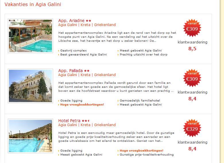 Sunweb reizen naar Agia Galini Kreta