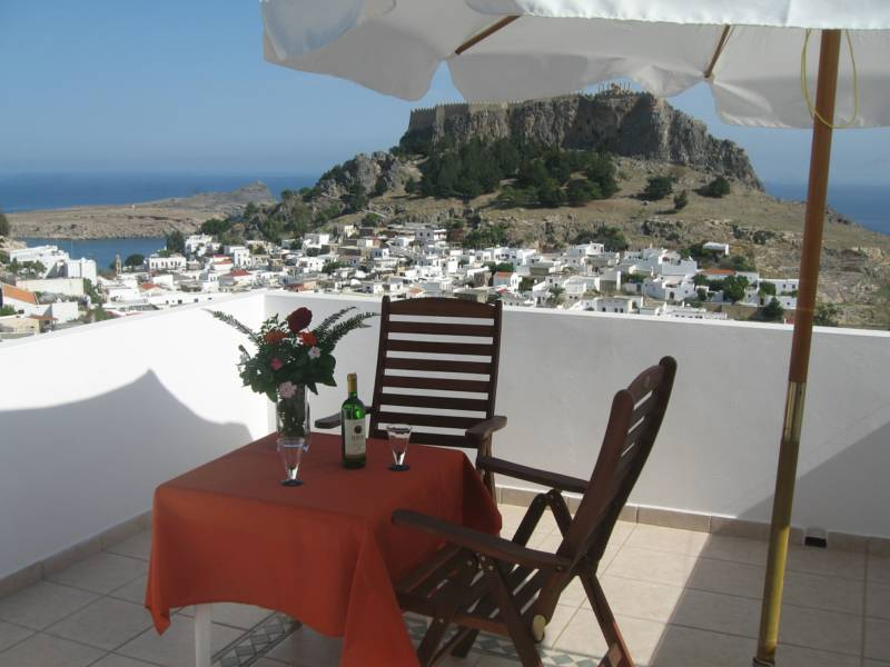 Hotels, studios and apartments in Lindos on Rhodes in Greece