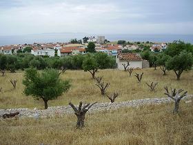 Samos Pythagorio, ancient theatre and Hellenistic villa, Samos Pythagorion, Oude theater en Hellenistische villa