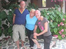 Ioanna, Wilbert, me at Ioannas Studios in Samos